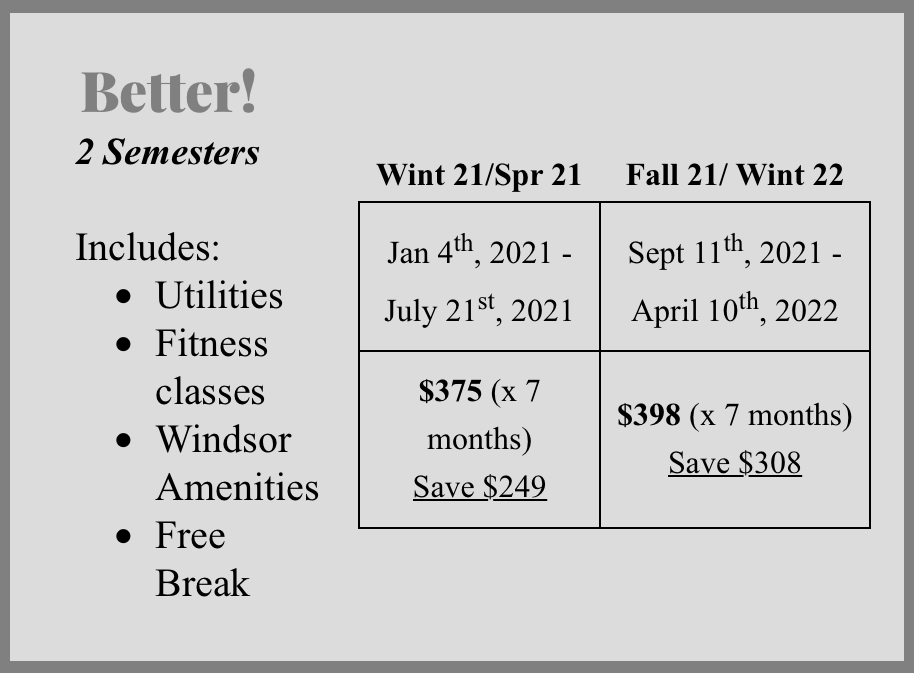 2 Semesters Pricing Plan